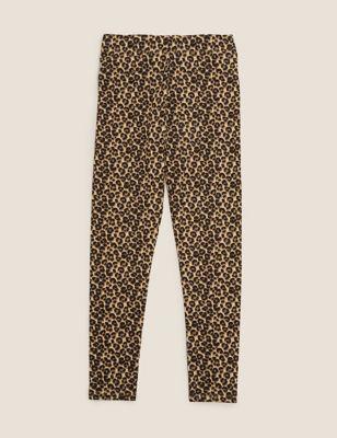 Organic Cotton Leopard Print Leggings (6-16 Yrs)