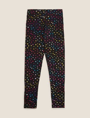 Organic Cotton Rainbow Star Foil Leggings (6-16 Yrs)