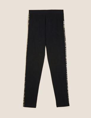 Cotton Animal Side Stripe Leggings (6-16 Yrs)