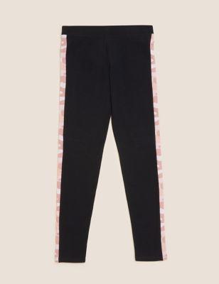 Cotton Camouflage Side Stripe Leggings (6-16 Yrs)