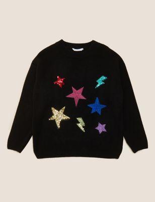 Sequin Stars Jumper (6-16 Yrs)