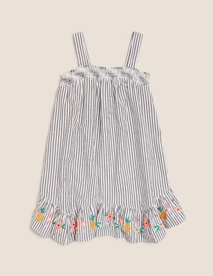 Pure Cotton Striped Dress (6-16 Years)
