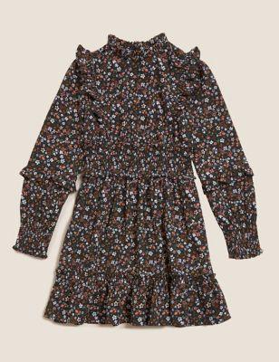 Floral Print Frill Dress (6-16 Yrs)