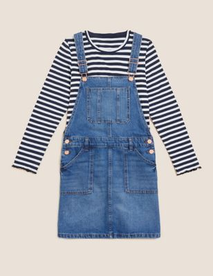 2pc Denim Pinafore Outfit (6-16 Yrs)