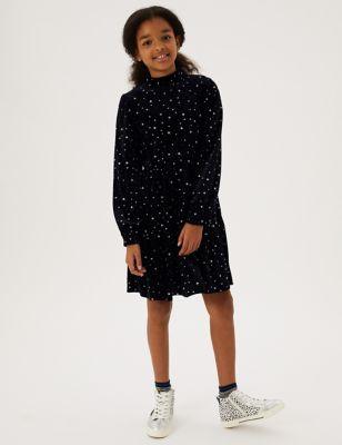 Velvet Star Dress (6-16 Yrs)
