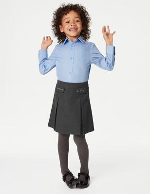 Girls' Embroided School Skirt (2-18 Yrs)