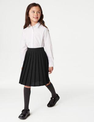 Girls' Easy Dressing Pull On School Skirt (2-16 Yrs)