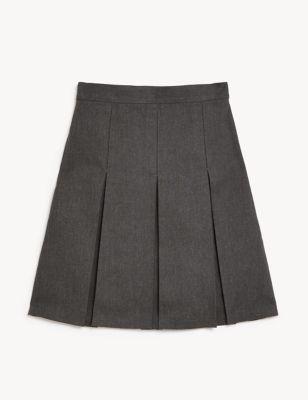 Girls' Plus Fit Permanent Pleats School Skirt (2-18 Yrs)