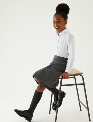 Girls' Longer Length School Skirt (2-16 Yrs)