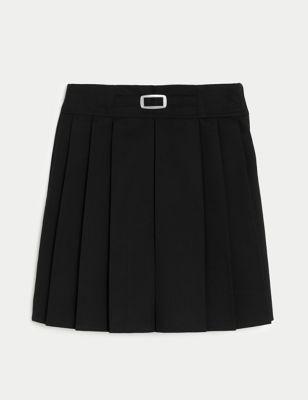 Girls' Permanent Pleats School Skirt (2-16 Yrs)