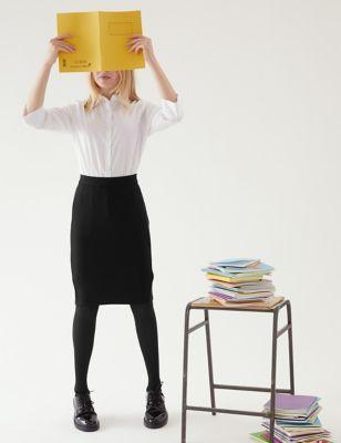 Girls' Long Tube School Skirt (9-16 Yrs)