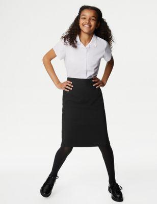 Girls' Long Pencil School Skirt (9-16 Yrs)