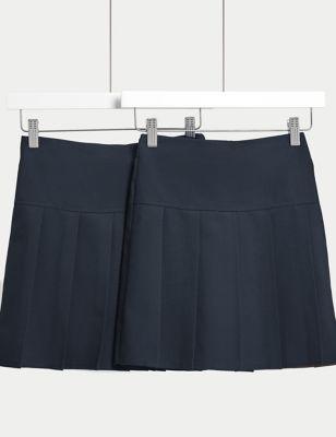2pk Girls' Crease Resistant School Skirts (2-16 Yrs)
