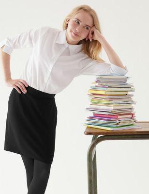 Girls' Short Tube School Skirt (9-18 Yrs)