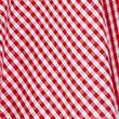 Girls' Pure Cotton Gingham Skater School Skirt - red