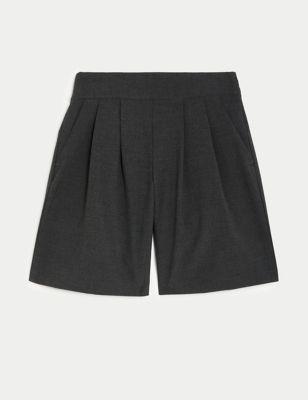 Girls' Pleat Front School Culottes (2-18 Yrs)