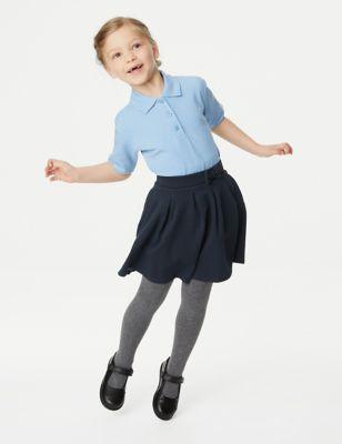 Girls' Cotton Pleated School Skirt (2-14 Yrs)