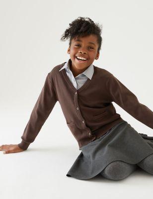 Girls' Cotton Rich School Cardigan (3-16 Yrs)
