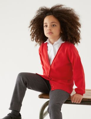 2pk Girls' Pure Cotton School Cardigan