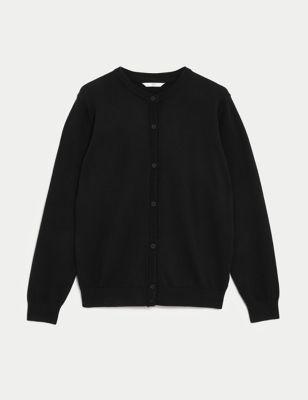 Girls' Pure Cotton School Cardigan (9-18 Yrs)