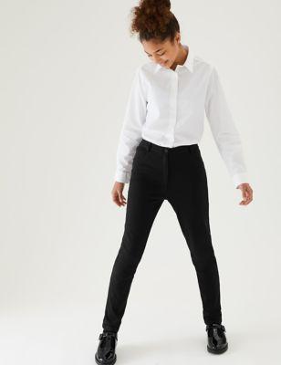 Girls' Skinny Leg Regular Fit School Trousers (2-18 Yrs)
