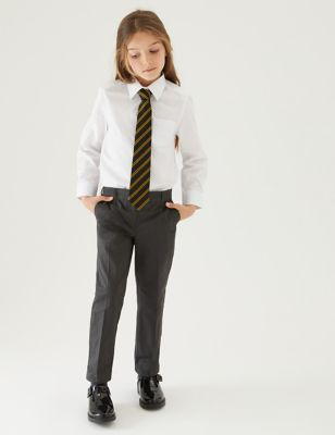 Girls' Regular Fit Skin Kind™ School Trousers (2-18 Yrs)
