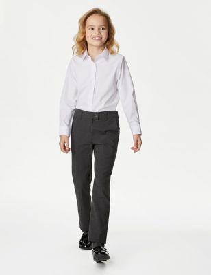 2pk Girls' Slim Leg School Trousers