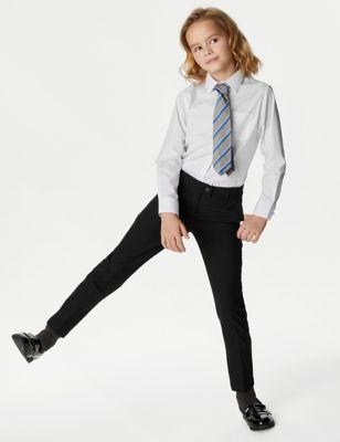 2pk Girls' Slim Leg School Trousers (2-18 Yrs)