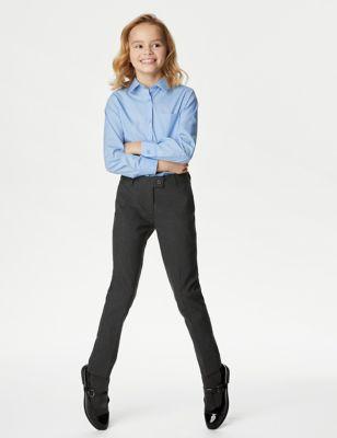 Girls' Skinny Leg School Trousers
