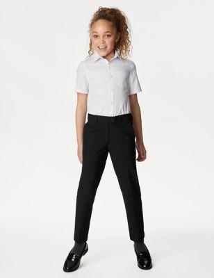 Girls' Skinny Leg School Trousers (2-18 Yrs)