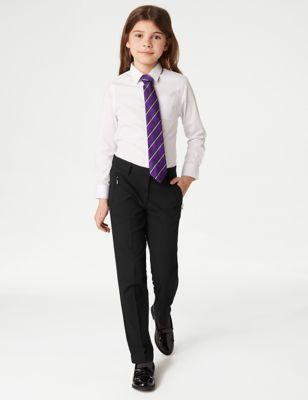 Girls' Slim Leg Additional Length Trousers (2-18 Yrs)