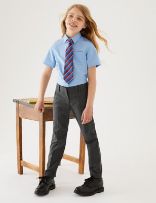 Girls' Slim Leg Regular Fit School Trousers