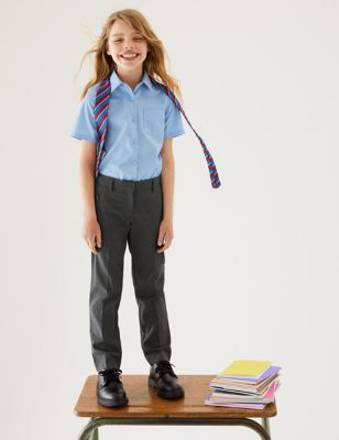 Girls' Slim Leg Slim Fit School Trousers (2-18 Yrs)