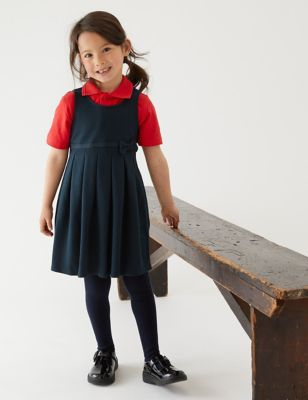 Girls' Cotton Knitted School Pinafore (2-12 Yrs)