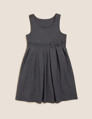 Girls' Cotton Knitted School Pinafore