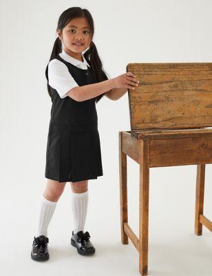 2pk Girls' Crease Resistant School Pinafores (2-12 Yrs)