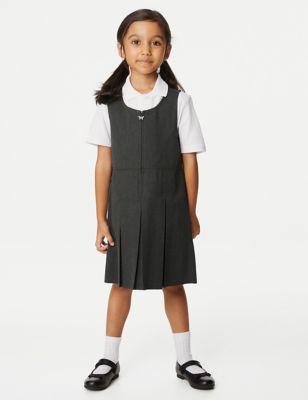 Girls' Longer Length Pleated School Pinafore (2-12 Yrs)