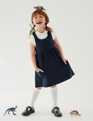 School Girls' Cotton Pinafore (2-12 Yrs)