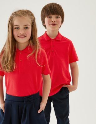 3pk Unisex Pure Cotton School Polo Shirts