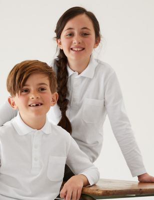 2pk Unisex Adaptive School Polo Shirts