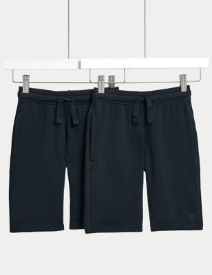 2pk Unisex Sport School Shorts (2-16 Yrs)