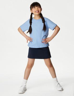 Girls' Cotton with Stretch Sports School Skorts (2-16 Yrs)