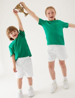2pk Unisex Pure Cotton School Shorts (2-16 Yrs)