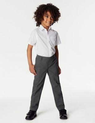 2pk Boys' Regular Leg School Trousers