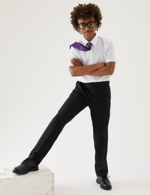 2pk Boys' Regular Leg School Trousers (2-18 Yrs)