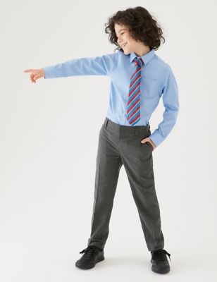 2pk Boys' Slim Leg School Trousers