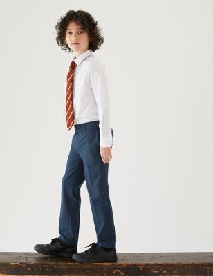 2pk Boys' Skinny Leg School Trousers (2-18 Yrs)