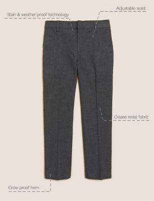 2pk Boys' Skinny Leg School Trousers