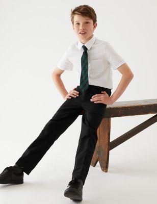 Boys' Cotton Skin Kind School Trousers (2-18 Yrs)