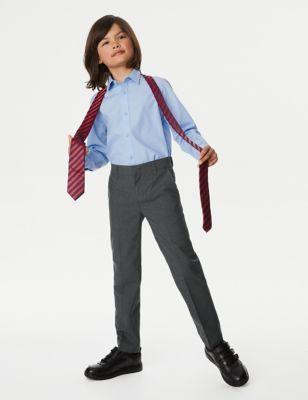 2pk Boys' Slim Leg Plus Fit School Trousers (2-18 Yrs)